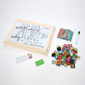 Wooden Multifunction Double Side Drawing Writing Board Blackboard Counting Math Learning Magnetic Drawing Board Toys For