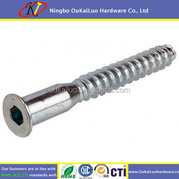 Furniture Assembly Screw / Confirmat Screw/ Cabinet Screw For Beds