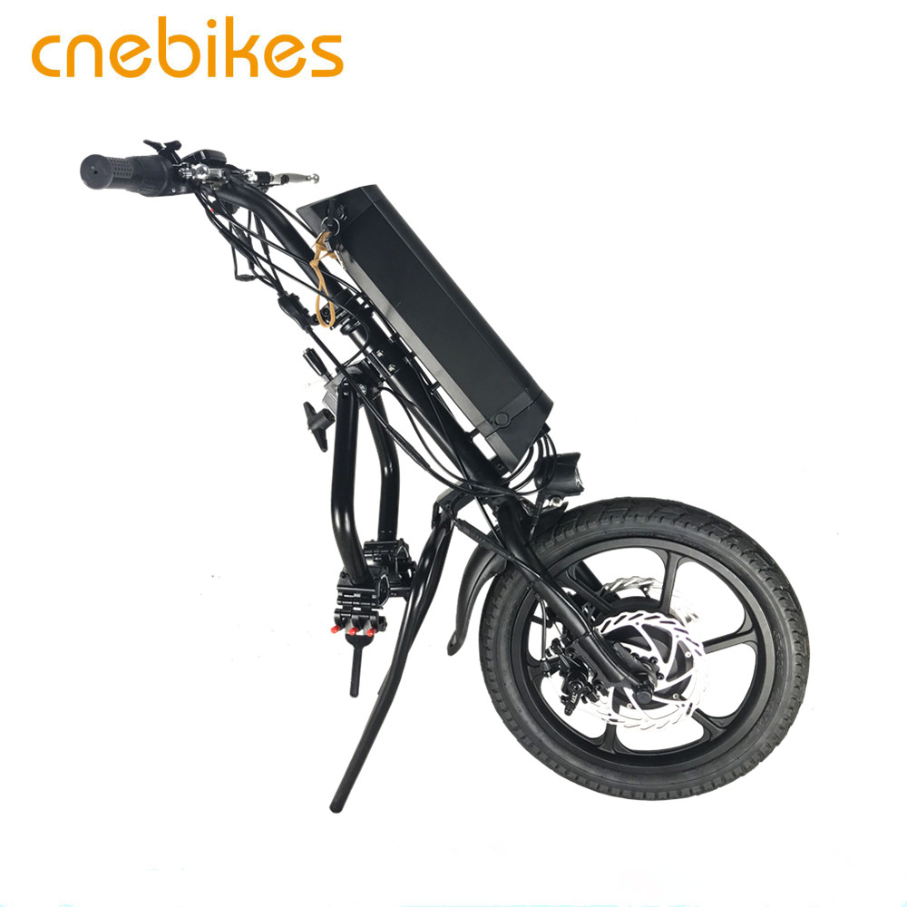 CNEBIKES wheelchair attachment 16inch 36v 350w hub motor electric handcycle