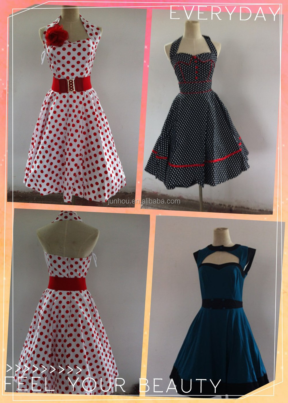 Vintage 1950\'s Rockabilly Mature Ladies Swing Evening Formal Dress ...