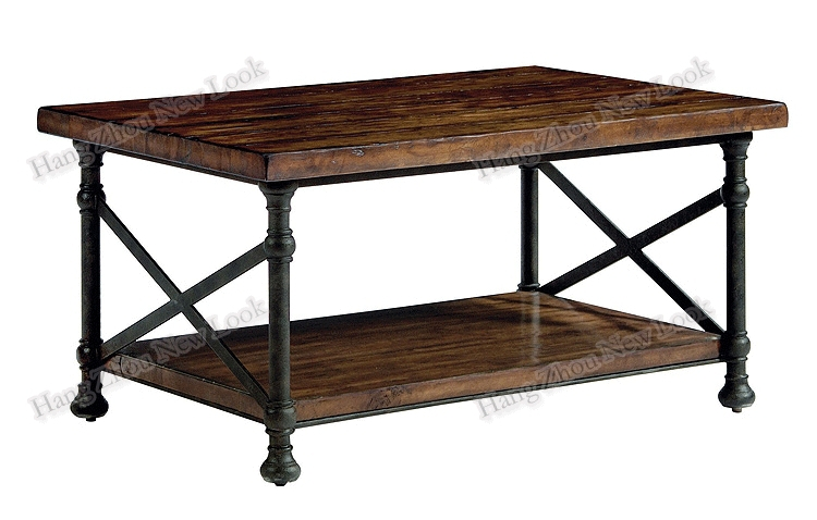 American Village Loft Style Retro Antique Wood To Do The Old Wrought Iron Coffee Table Living Room Sofa A Few Villa Club