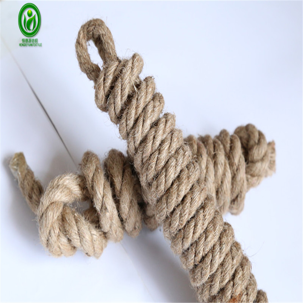 Best jute factory multi-functions large jute hemp sisal mooring twine rope