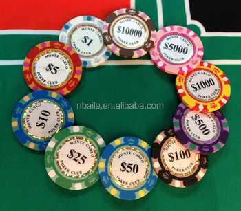 3 tone 14g clay crown casino poker chip - Clay Poker Chips