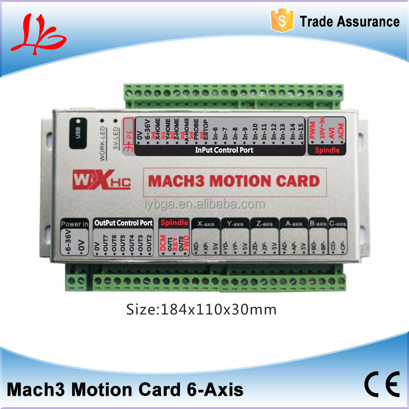 MK6 motion control card for 6 axis cnc router