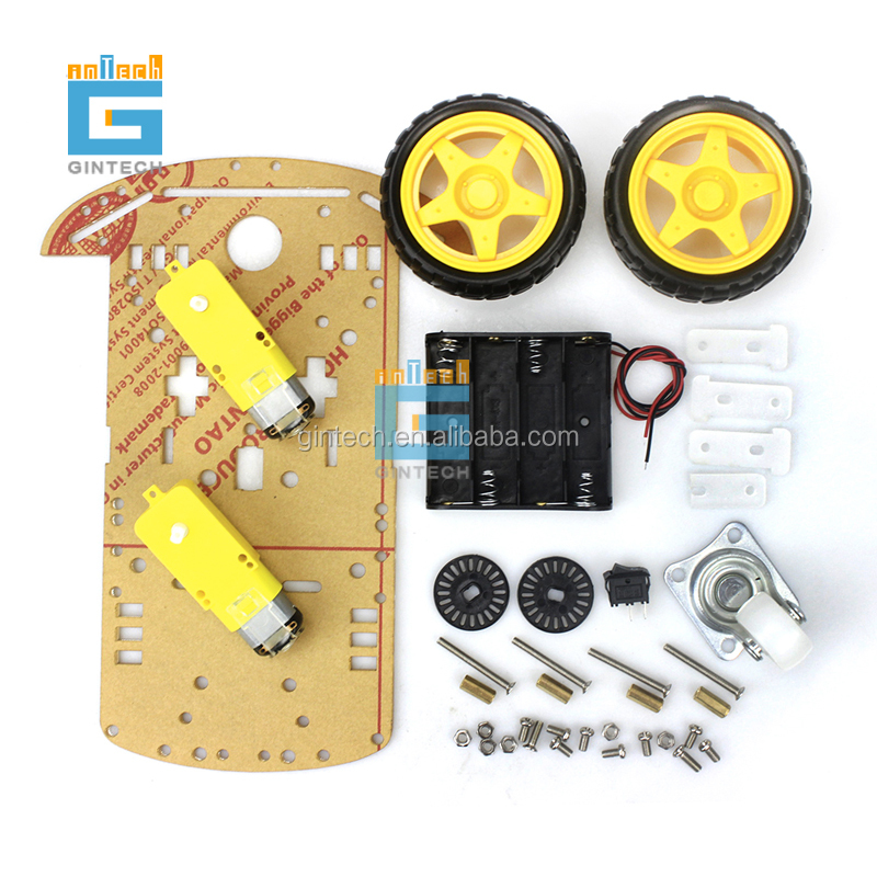2WD Motore Intelligente Robot Car Chassis/Tracing Box Auto Kit di Velocità Encoder con Battery Box per arduino Kit Fai Da Te