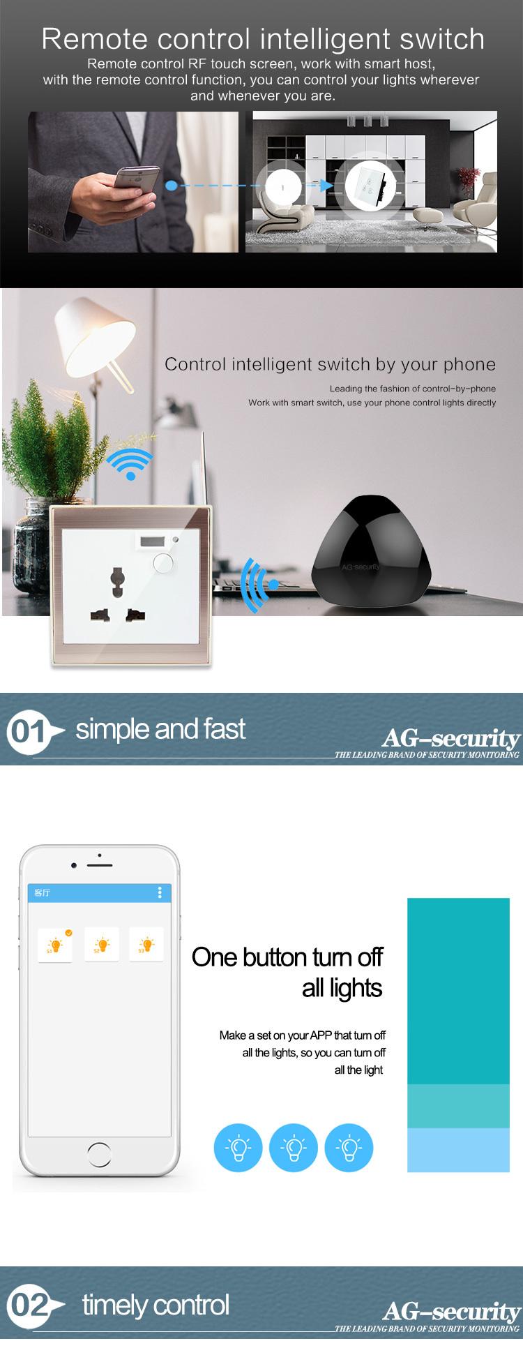 Intelligent house Smart HOME WIFI IR RF Remote Control