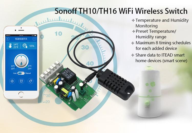 Sonoff Sensor Si7021 Modulo sensore di umidit/à ad alta temperatura Sensore ad alta precisione per Sonoff TH10 e Sonoff TH16
