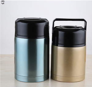 800 1000ml insulated double wall lunch box vaccum flask hot food warmer container thermos insulated stainless steel food jar