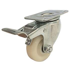 heavy duty nylon material swivel furniture caster with double locking