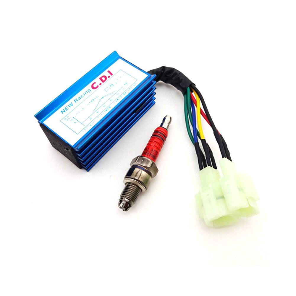 Buy Tc Motor On Off Ignition Key Switch For Moped Scooter 4 Wheeler Atv Cdi Box Wiring Blue Performance 6 Pin Ac 3 Electrode A7tc Spark