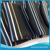 100%polyester stretch stripes on the black cloth yarn dye spandex fabric for sweatshirts