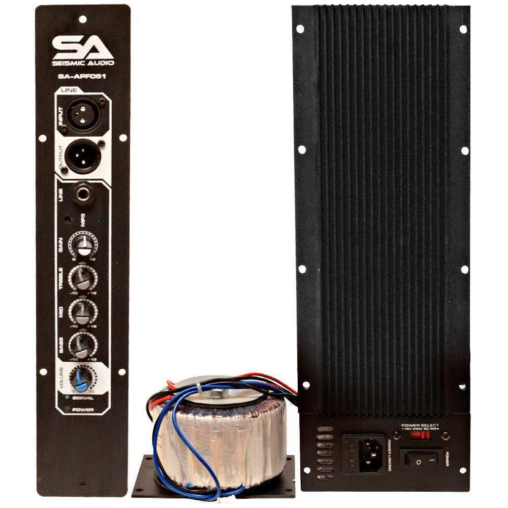 Get Quotations · Seismic Audio - SA-APF051 - Class AB 250 Watt Plate  Amplifier with 3 Band