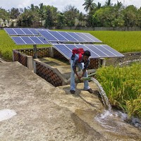 energy-saving battery powered water pump solar system work at day and night