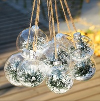 Glass Hanging ball ornaments for New Year Christmas decorations