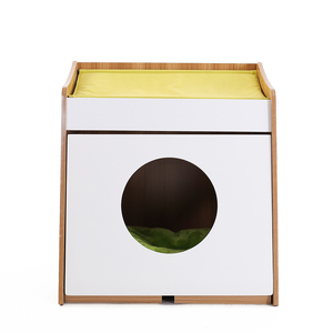 Promotional Morden Simple Design Wooden Cat House Condo