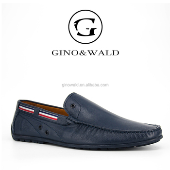 189f65a14f0 Fancy Handmade Soft Leather Blue Branded Loafer Men Shoes - Buy ...