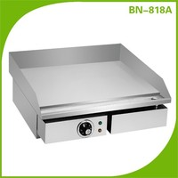 Kitchen appliance CE approved stainless steel electric griddle/electric grill pan BN-818A