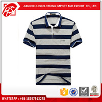 Mens 100% preshrunk cotton t-shirts stripe polo shirt man shirt