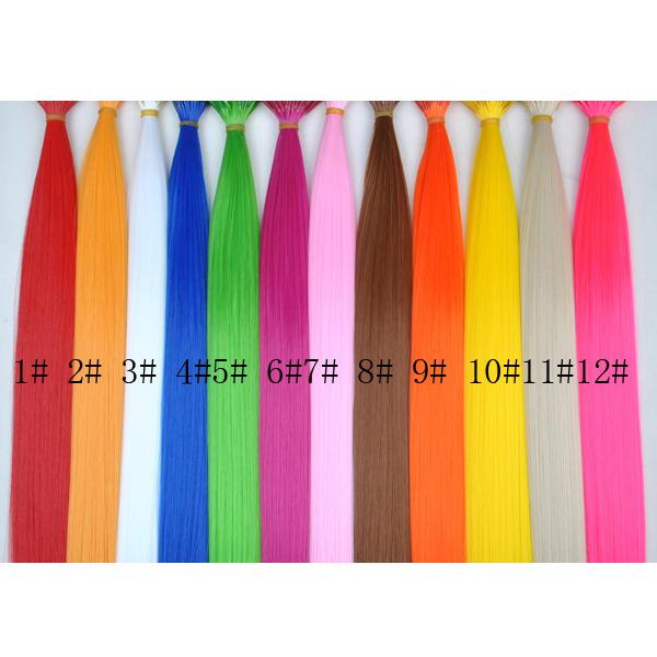 Многоцветный 12 шт. цвета синтетический гризли петуха. Наращивание волос волосы кусок с 12 бусины для