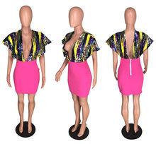 Сексуальное платье с блестками для вечеринки, женское платье большого размера с глубоким v-образным вырезом, элегантное Бандажное облегающ...(Китай)