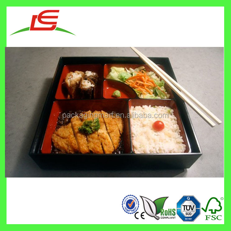 J482 Wholesale 100% Pro-environment Custom Japanese Bento Box with Lid