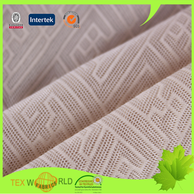 China supplier jacquard nylon spandex micro mesh fabric for lingerie