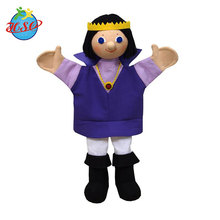 Custom plush cartoon action figure hand puppet toys for kids