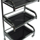 black galss beauty/nail salon working trolley HB-311
