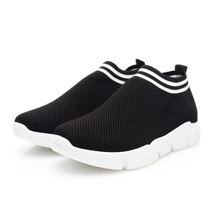 Low-cut Slip On Socks Sports Walking Running White Flyknit Shoes Women