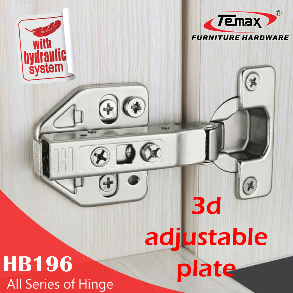 Fashionable 3d adjustable kitchen cupboard adjusting concealed hinges