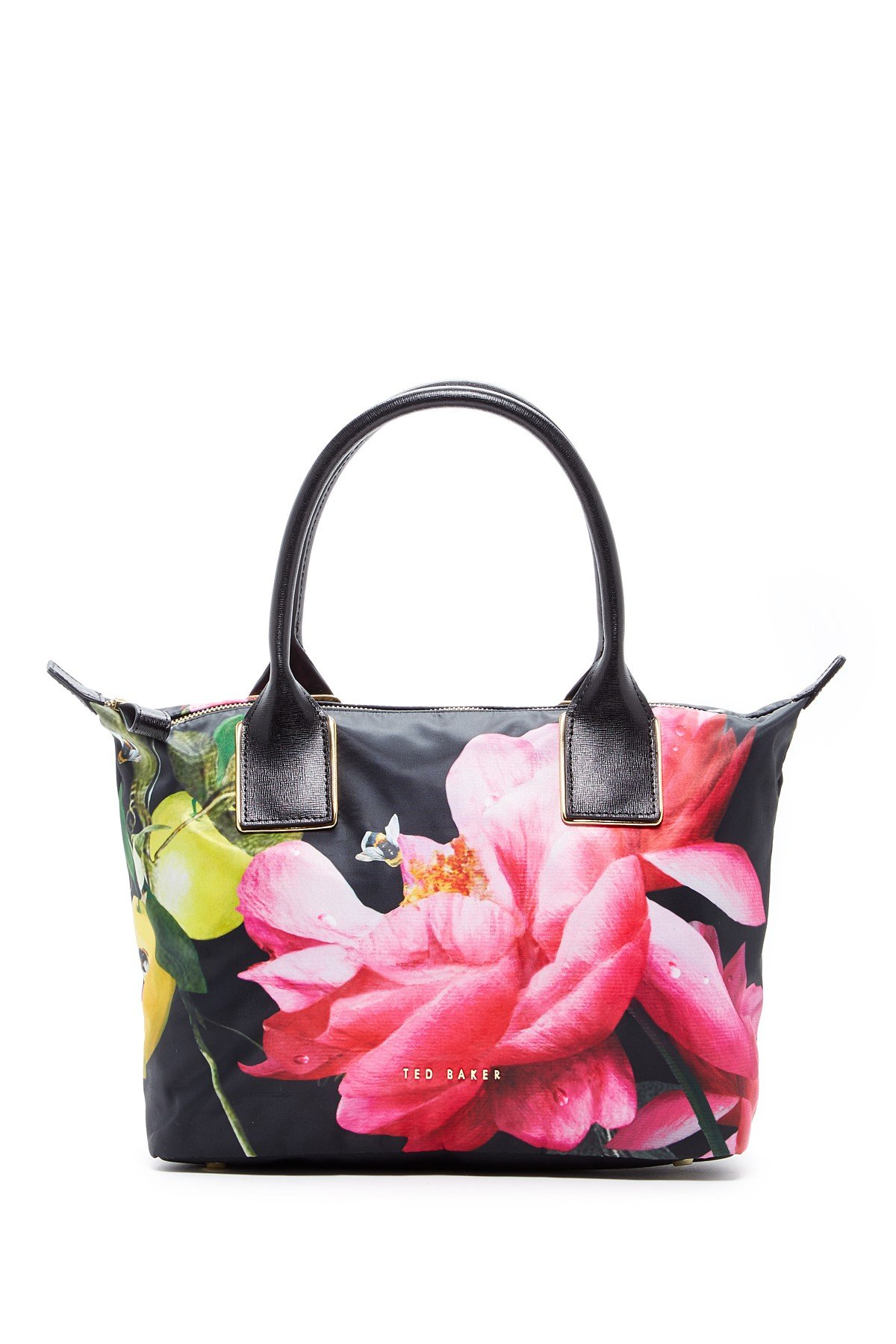 a3ecbdc619dd1b Buy Ted Baker London Citrus Bloom Printed Tote Bag Black in Cheap ...