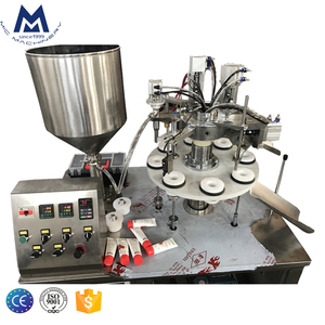 CE Semi Automatic Cosmetic Cream Tube Filling Sealing Machine Plastic Toothpaste Tube Filling And Sealing Machine
