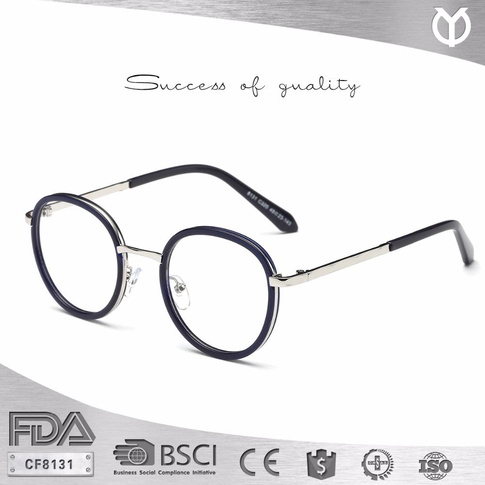 CF8131 PC y metal piezas de alta moda marco óptico-Molduras para ...