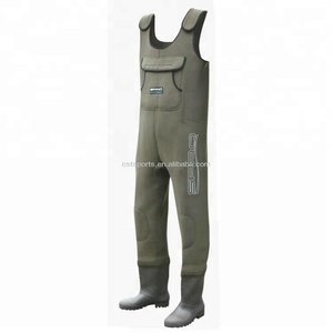 Chest neoprene fishing waders 5 mm pvc bootfoot wholesale