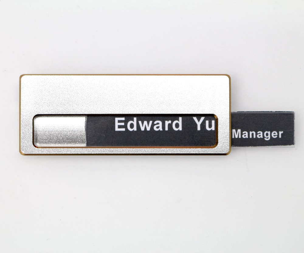 Custom Uv Digital Printing Company Blank Brass Metal Reusable Magnetic Name  Badge With Logo - Buy Reusable Magnetic Name Badge,Magnetic Name