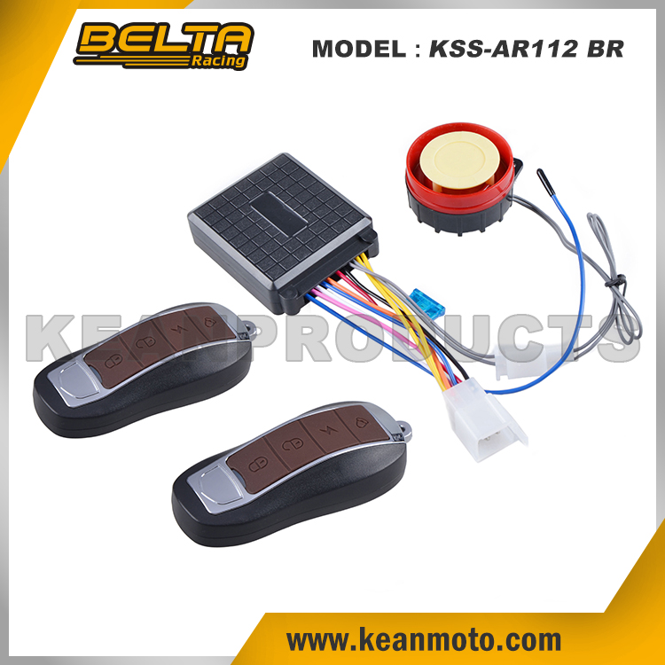 Anti-theft Universal Motorcycle Alarm System Alarmas Para Motors Brown Remote Alarm Lock KSS-AR112 BR