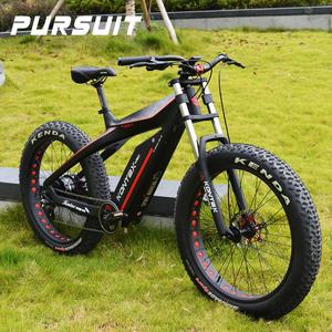 26 inch  Carbon fiber mountain frame 8 speed high quality 750w 48V 13ah electric bicycle 60km/h fast speed fat bike