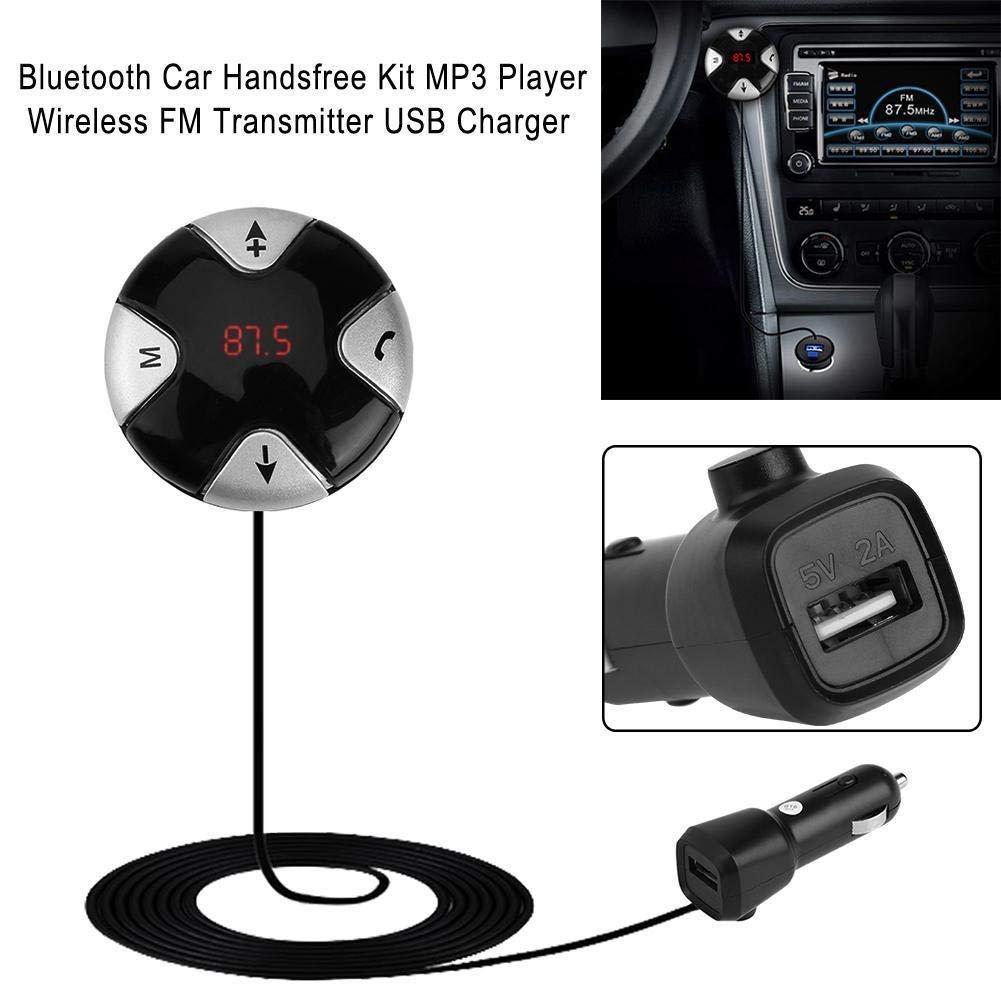 FidgetFidget Wireless FM Transmitter Bluetooth V3.0 Car Handsfree Kit MP3 Player USB Charger