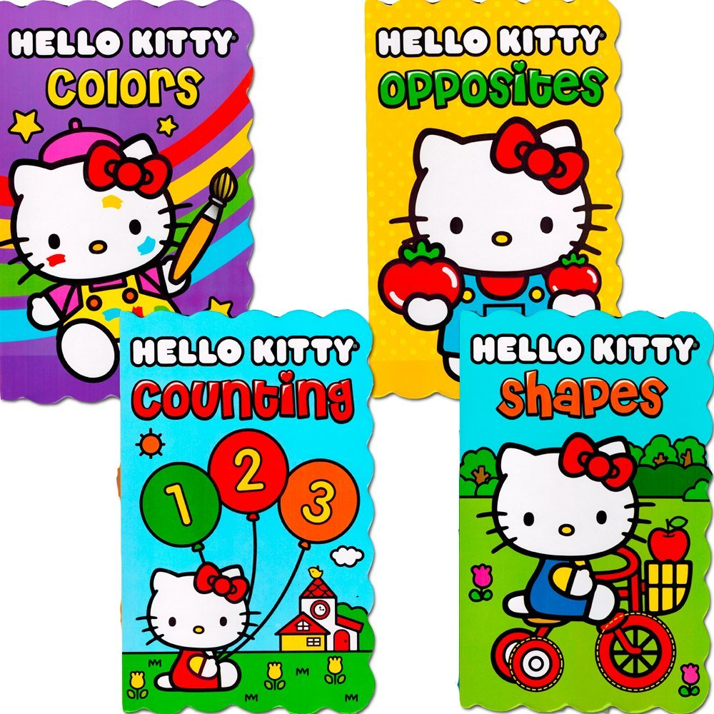 "Hello Kitty Board Books - Set of Four ""My First Books"" for Toddlers (Numbers, Shapes, Colors and Opposites)"