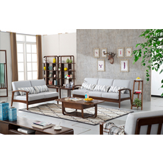 Living room home furniture wooden corner sofa set designs