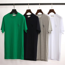 2018New men's pure cotton T-shirt leisure and comfort can be customized