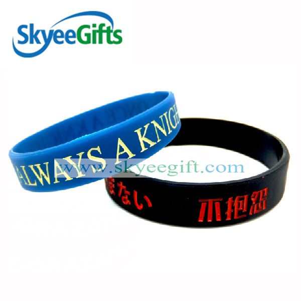 OEM factory supply Silicone guangdong bracelet by courier delivery