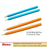 hexagon Mini Plastic Ball point pens for horse race or casino and promotion