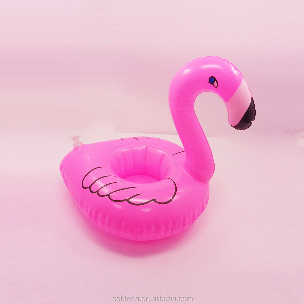 Attirant Summer Time Inflatable Flamingo Drink Cup Holder Pool Float Swimming Pool  Water Party Inflatable Drink Holder