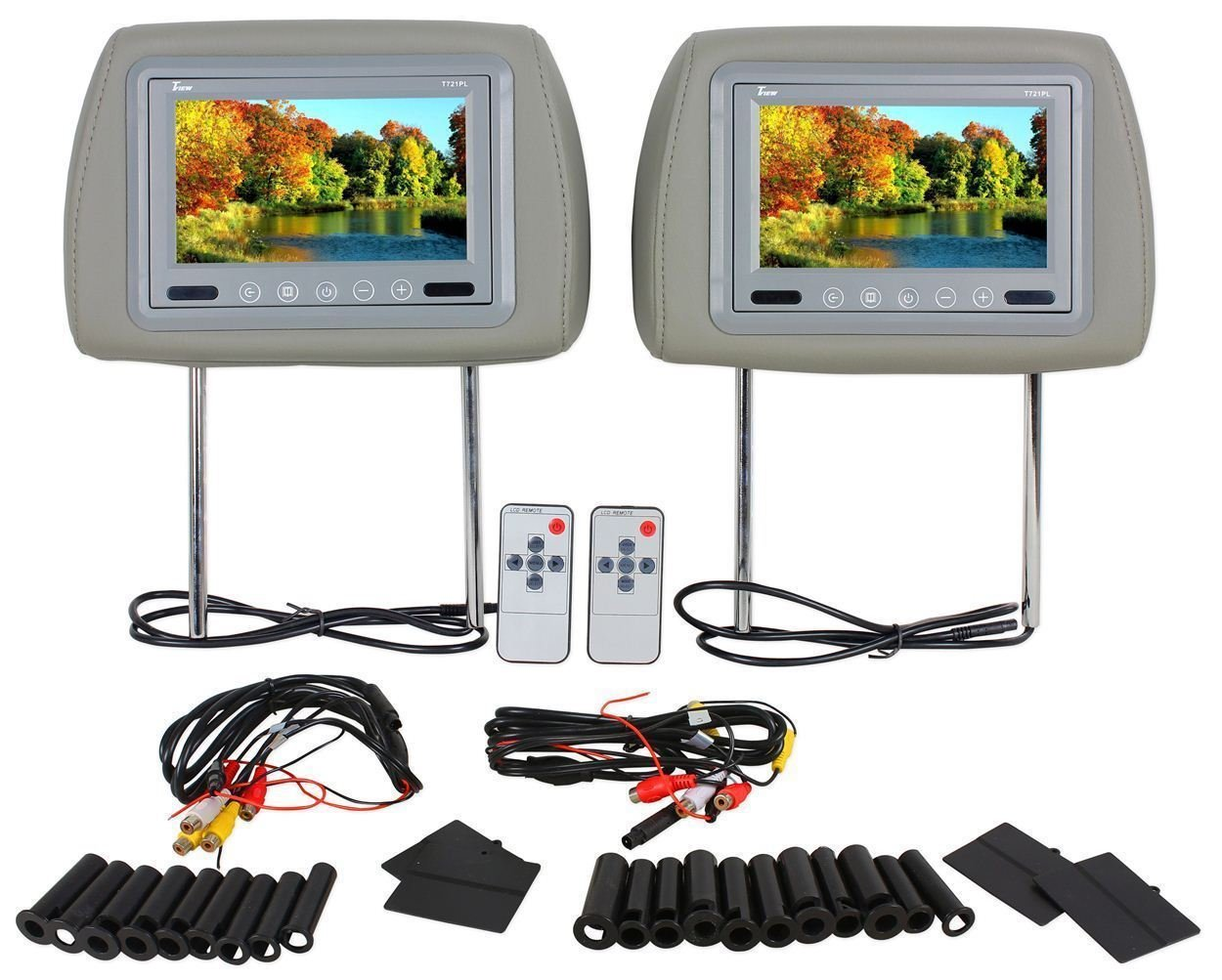 Cheap Tv Headrests Car Find Deals On Line At Tft Lcd Monitor Wiring Get Quotations Pair Of Brand New Tview T721pl Gray With 7
