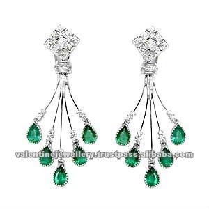 Women S Chandelier Diamonds Earring Indian Earrings