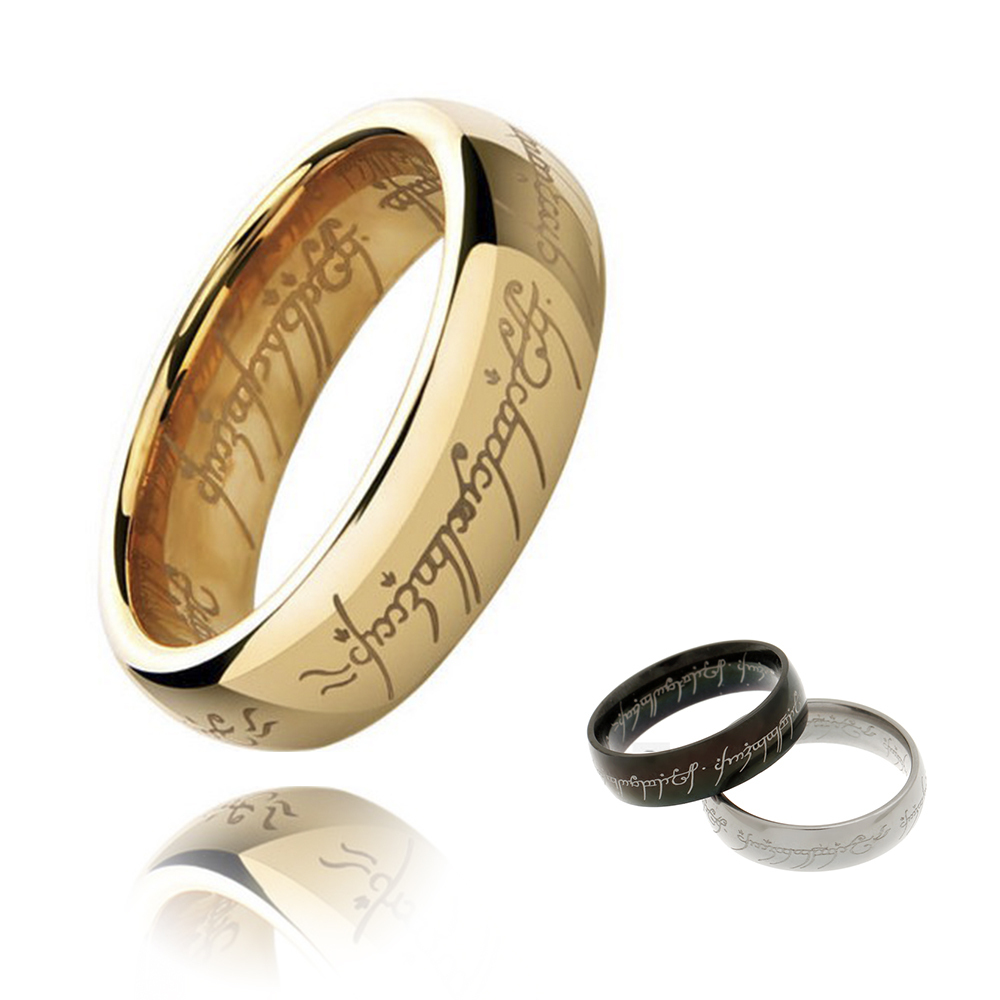 Hot selling H Letters One Ring To Rule Them All Male Titanium Stainless Steel Men Rings