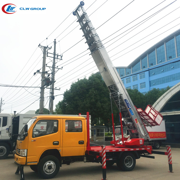 Easy to operate Dongfeng 28m ladder lift truck for home moving