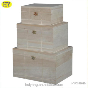 Solid engraving storage and packing paulownia wood box