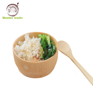 2018 hot sale cheap price good feature wooden rice bowl for kids